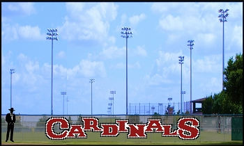 5' x 29' Custom Cardinals Letters