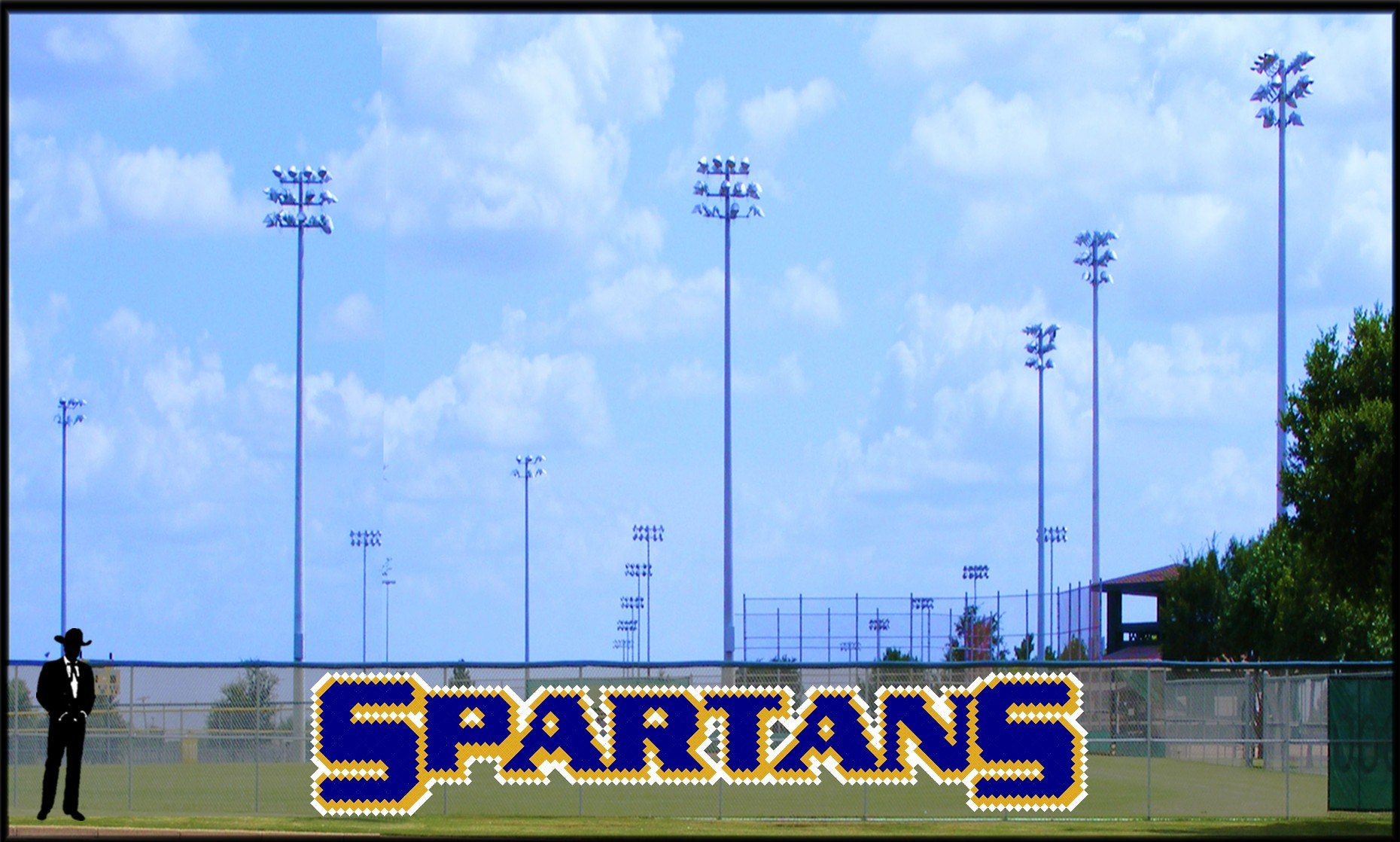 5' x 26 Bold Spartans Letters