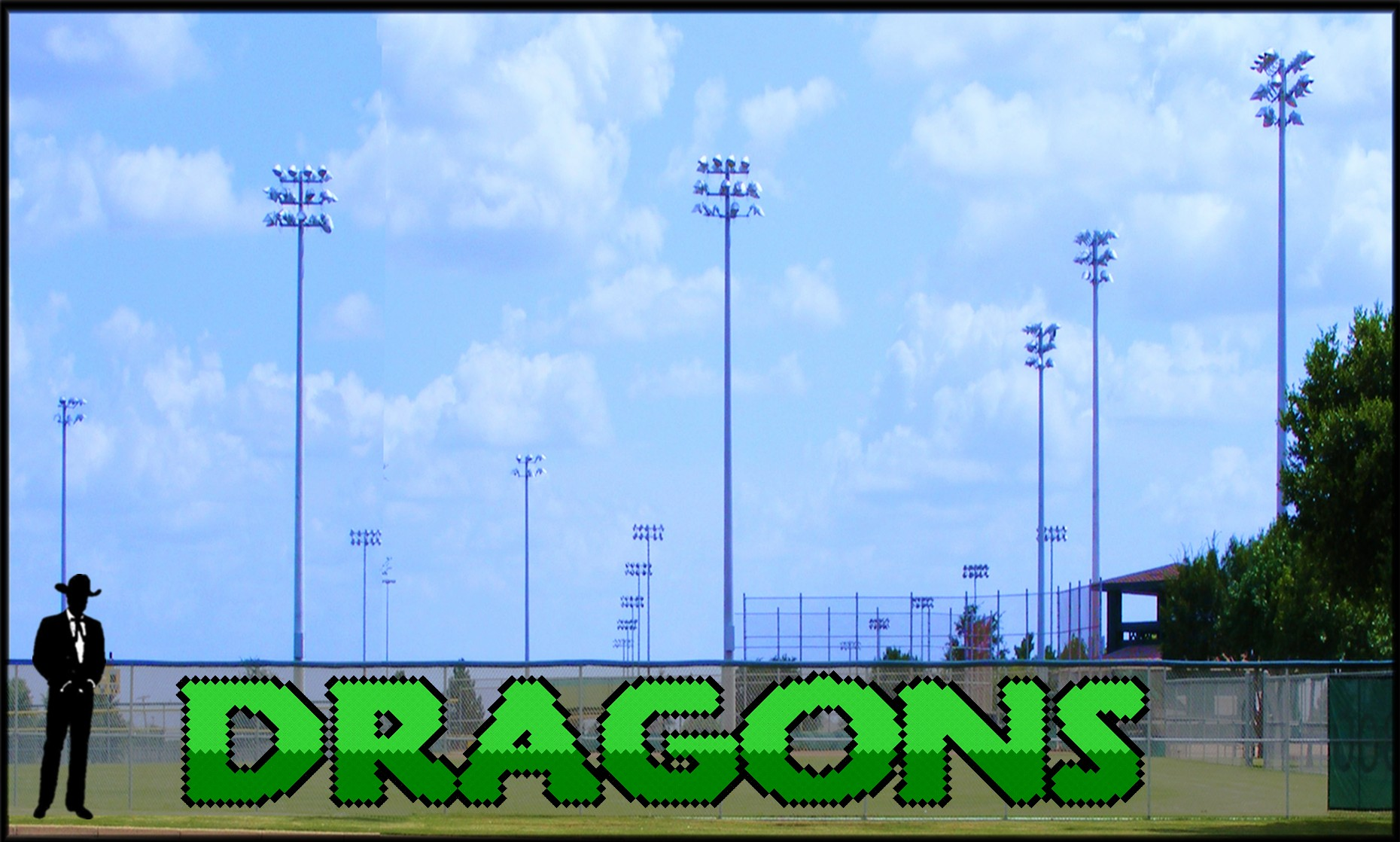 Two-Tone 4' x 28' Dragons Letters
