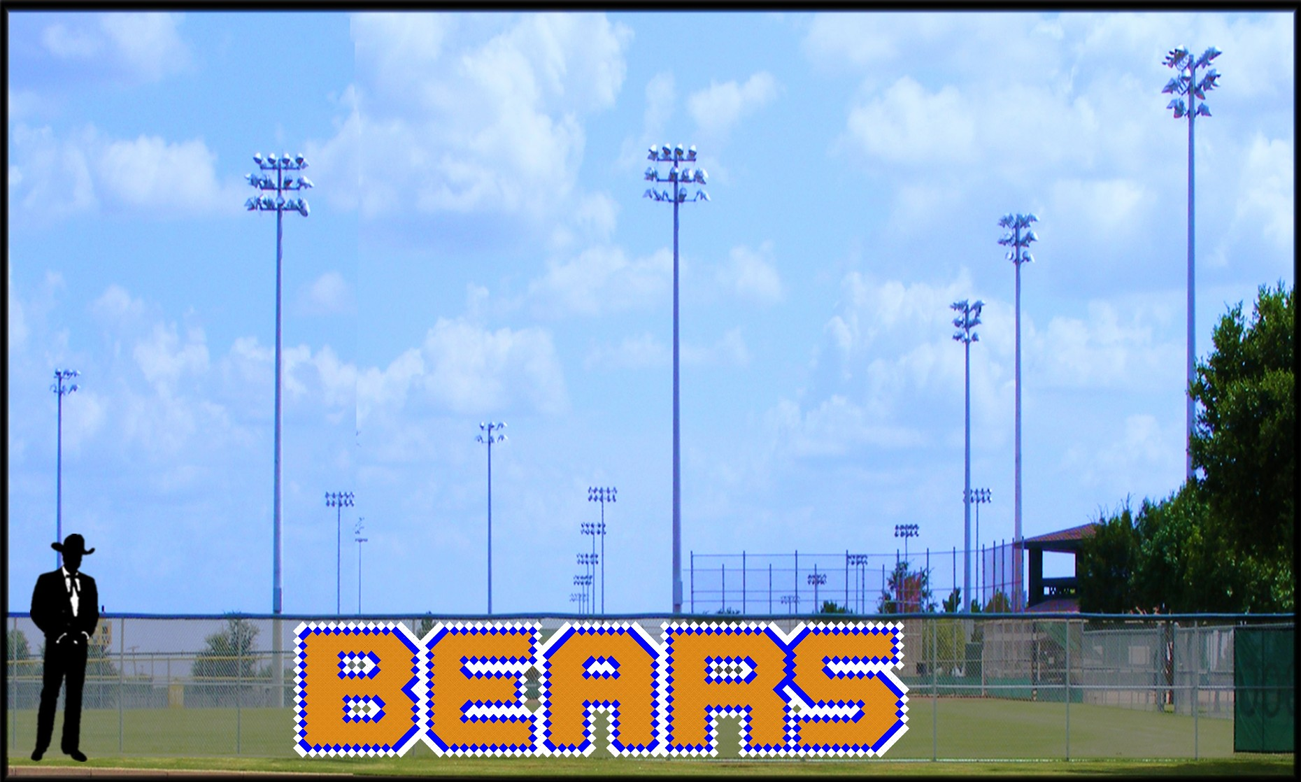 4' x 19' Block Bears Letters - 3 Colors