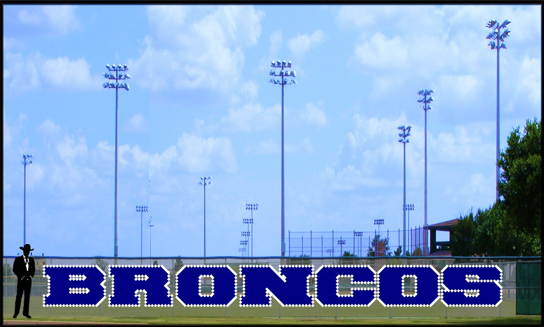 4' x 41' Bold Broncos Letters