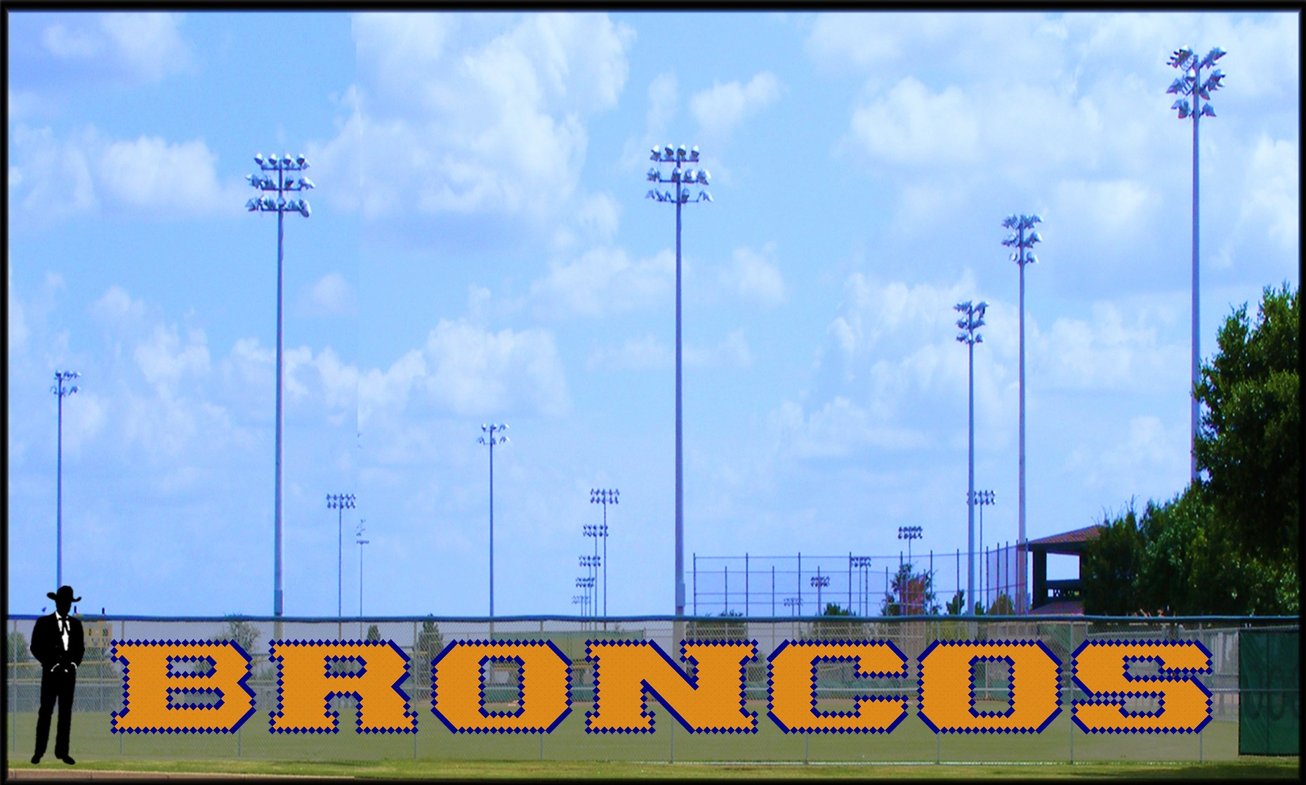 4' x 41' Broncos Letters - 2 Colors