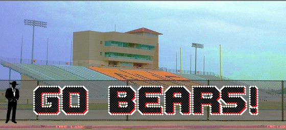 4' Go Bears Letters - 3 Colors