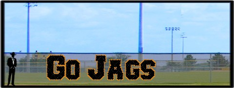 5' x 20 Go Jags Letters - 2 Colors