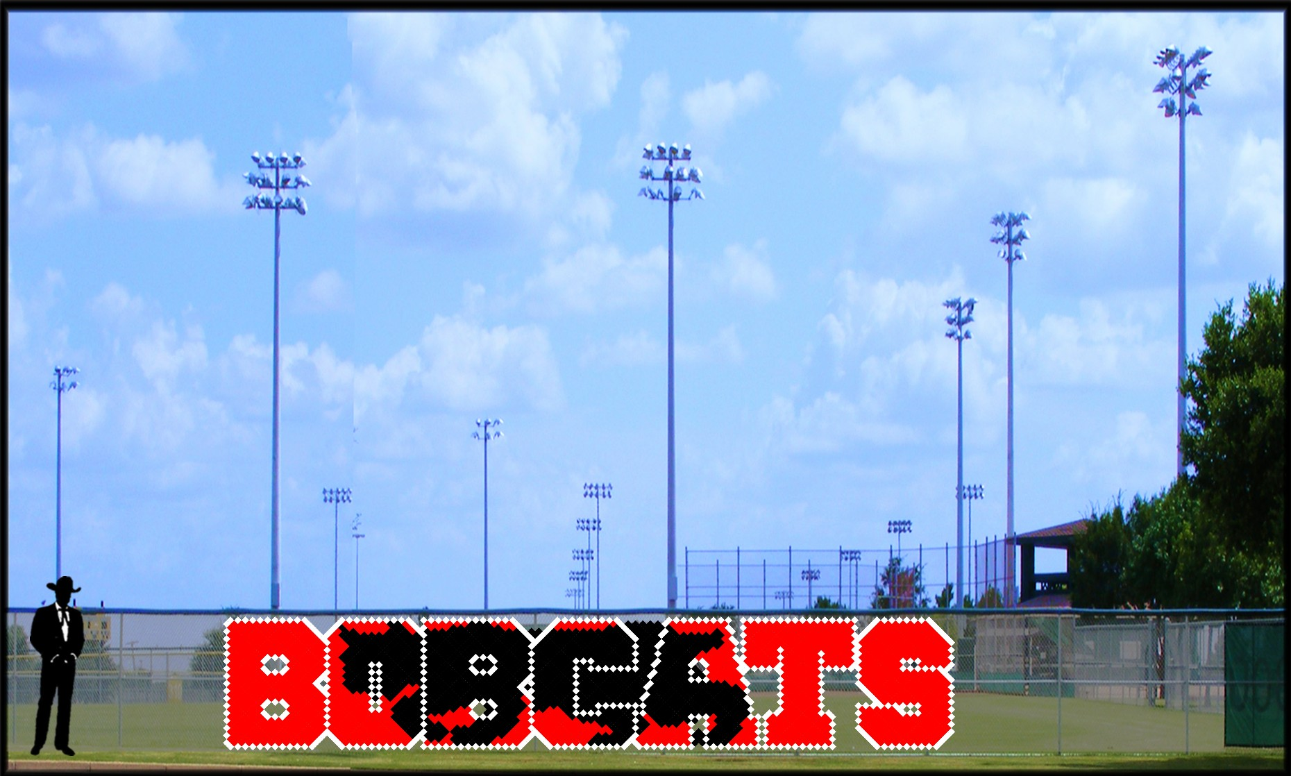 5' Bobcats with Silhouette