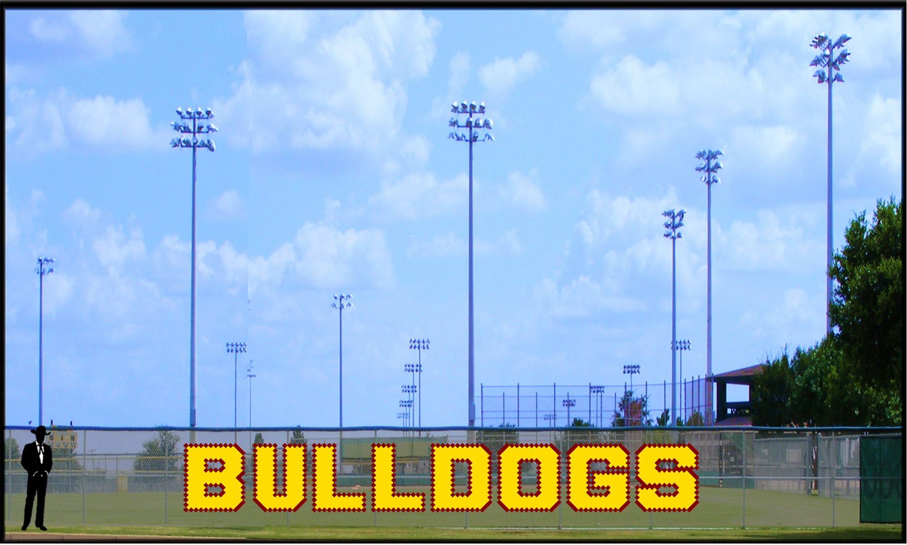 4' Bulldogs Block Letters