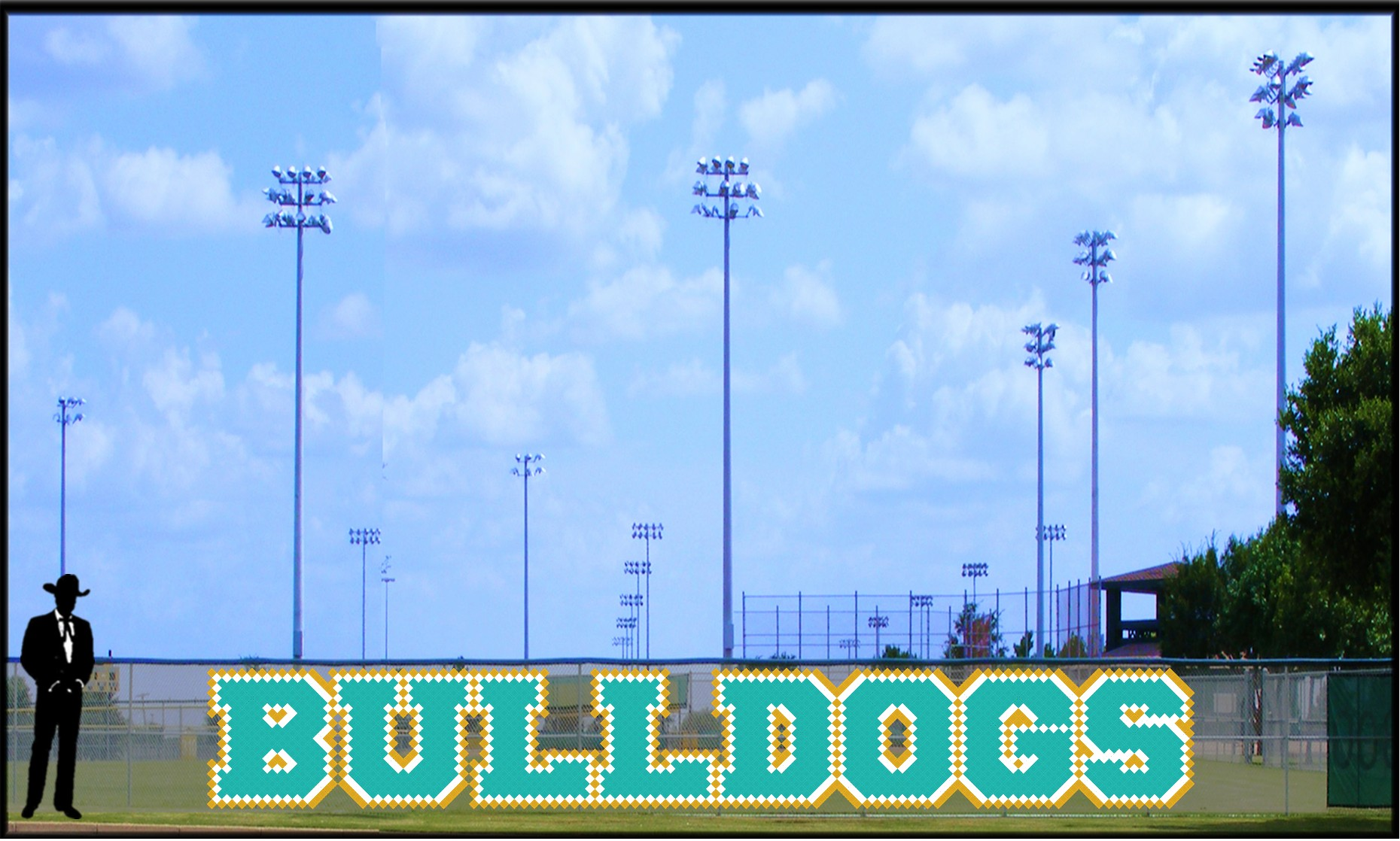 4' Bold Bulldogs Letters