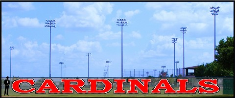 6' x 72' Large Cardinals Letters - 3 Colors