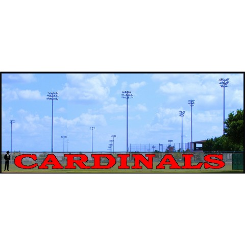 6' x 72' Large Cardinals Letters - 2 Colors