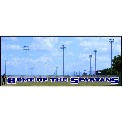 5' x 76 Home of the Spartans