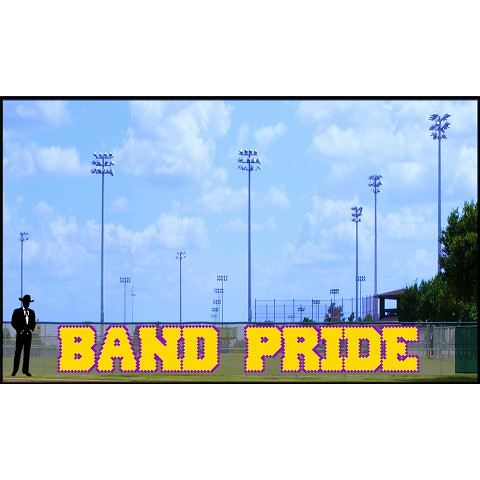 4' x 31' Band Pride Letters