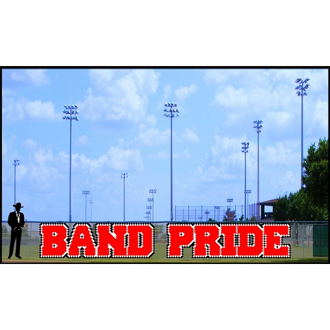 4' x 31' Band Pride Letters - 3 Colors
