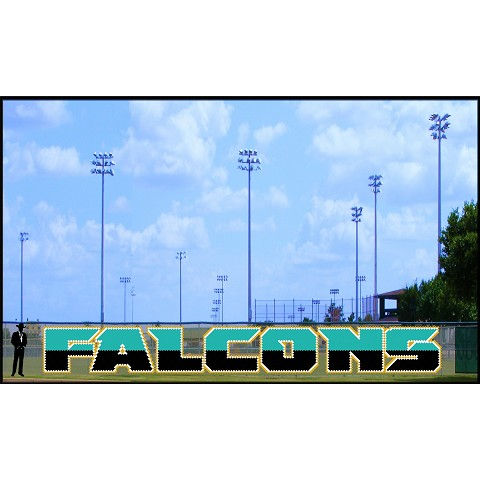 5' Bold Two-Tone Falcons Letters with Outline