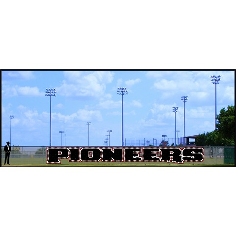 5' x 36 Pioneers Letters