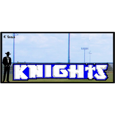 4' x 20' Knights Letters