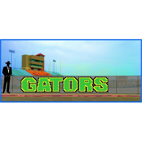 3.5' x 18' Gators Letters - 3 Colors