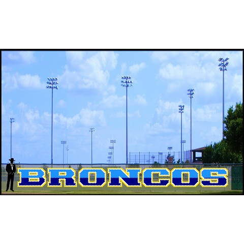4' Two-Tone Broncos Letters