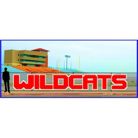 4' x 25' Wildcats Letters - Bold