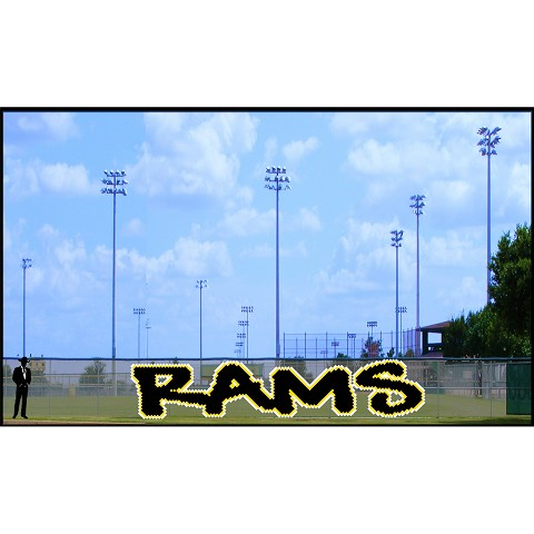 6' Three-Color Rams Letters