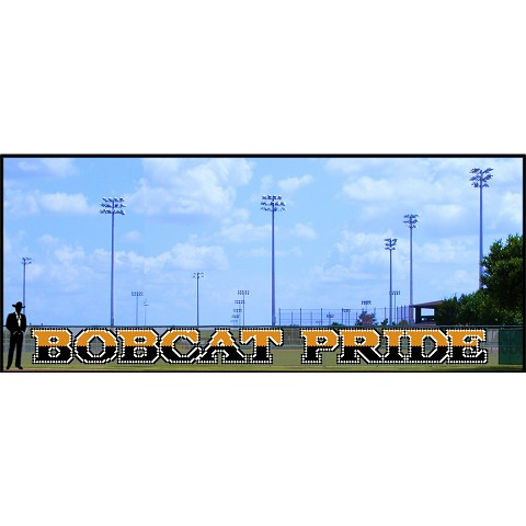 4' Bobcat Pride - 2 Tone with Outline
