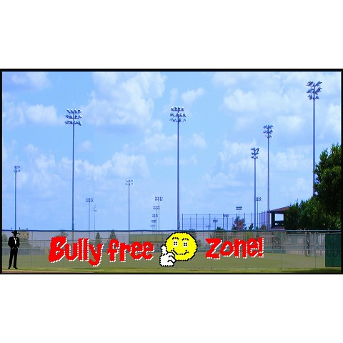 6' x 35' Bully Free Zone with Smiley